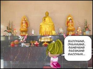 Buddhang Dhammang Sanghang Saranang Gacchami...